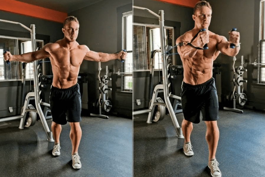 Cable chest workout (crossover) - an isolated exercise for the muscles of the chest