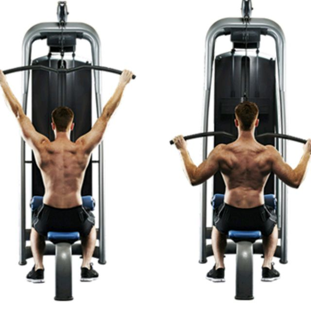 Wide Grip Lat Pulldown - Exercise How-to - Workout Trainer by Skimble