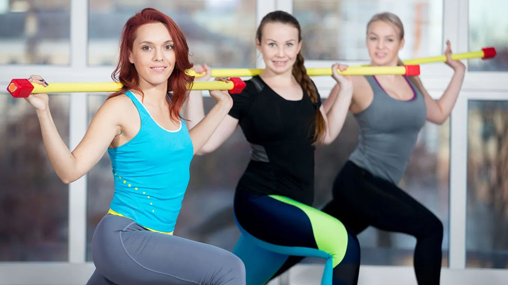 lunges body bar exercise