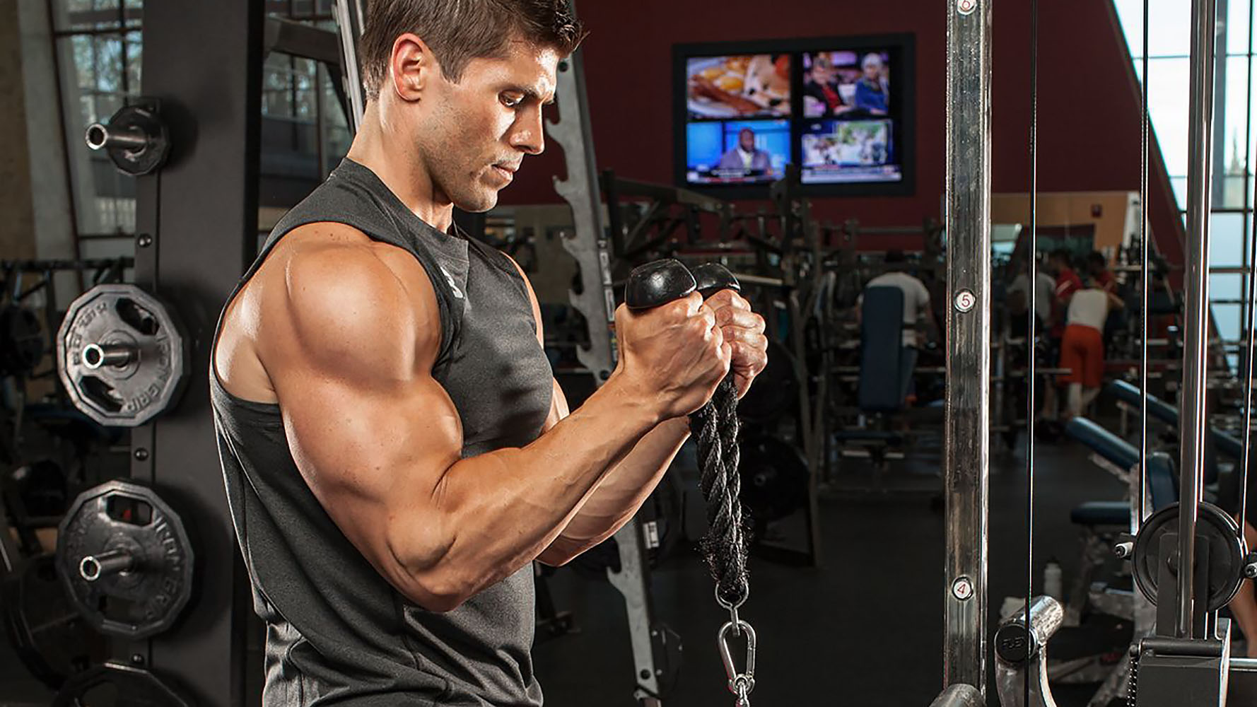 standing bicep cable curls
