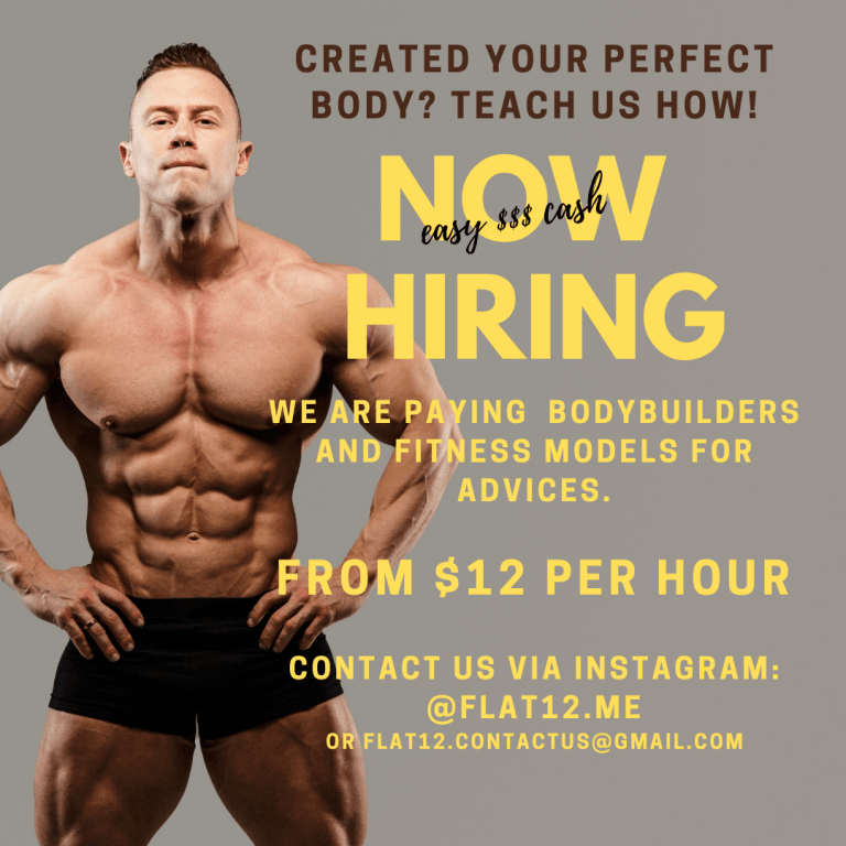 Hiring bodybuilders now!