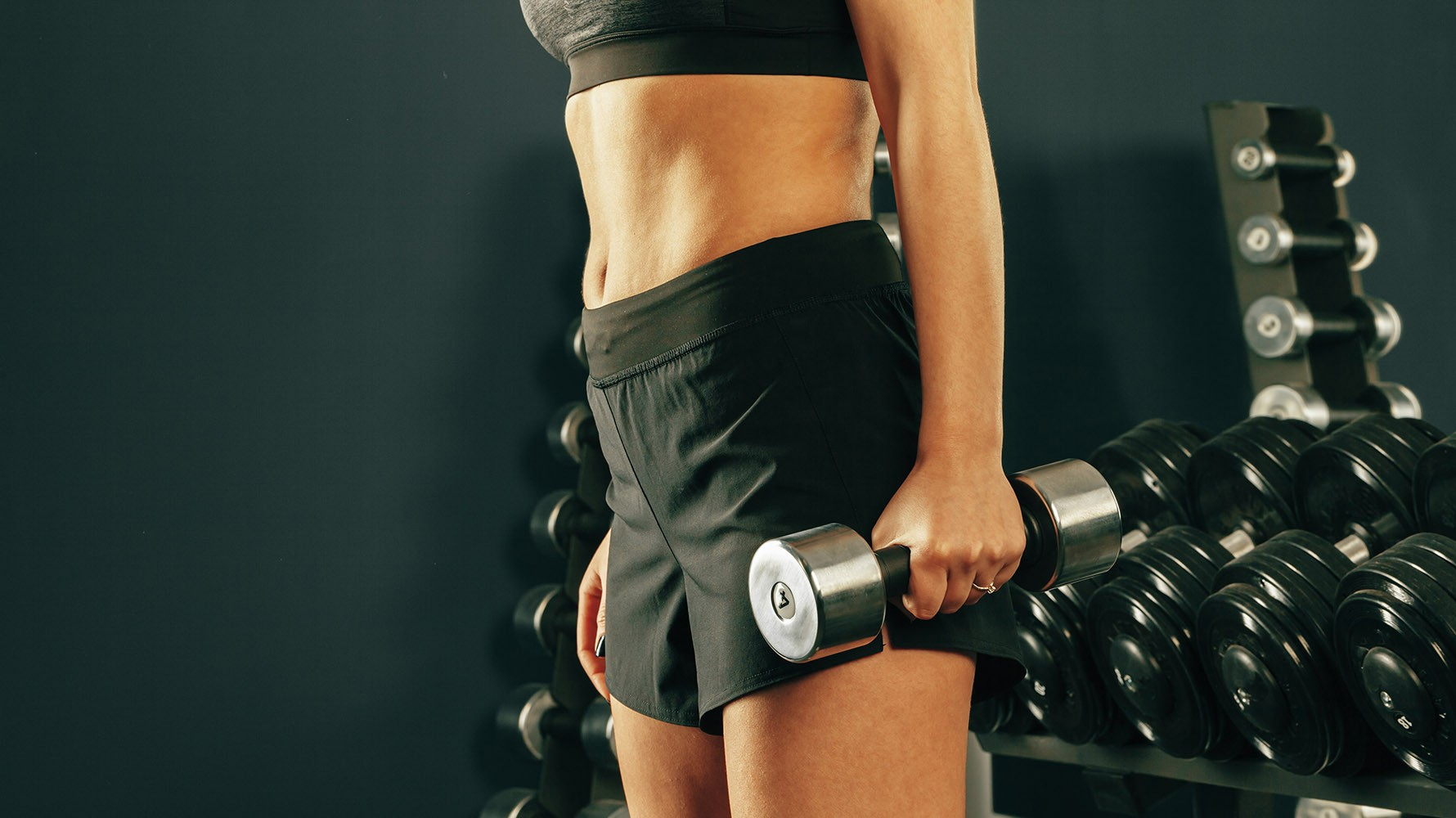 side lunge with dumbbells