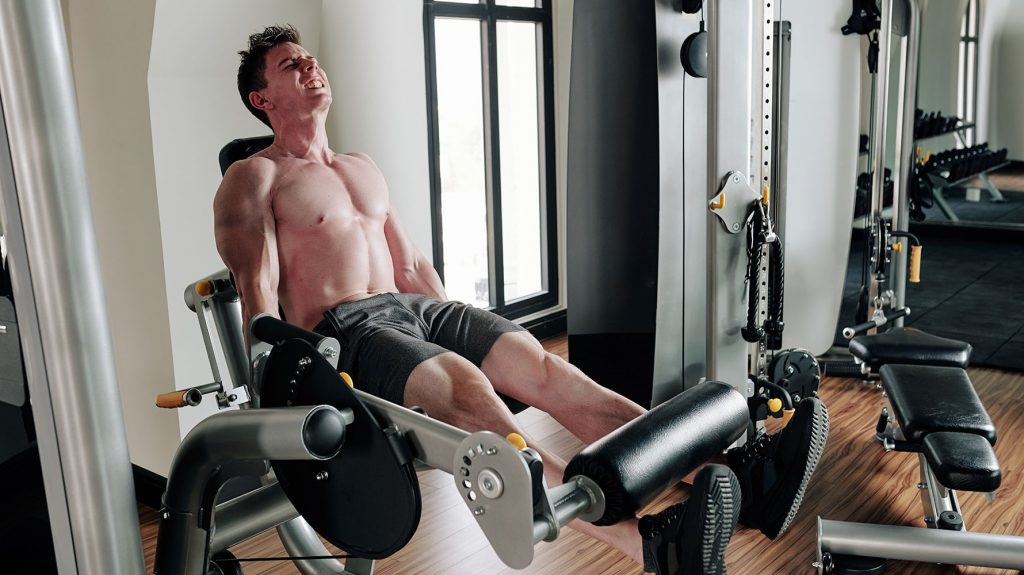 leg extension with curl machine